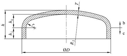 Dimensions of steel butt welding caps EN 10253-2