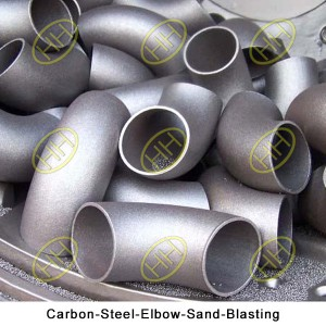 Carbon-Steel-Elbow-Sand-Blasting