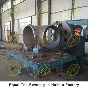 Equal-Tee-Beveling-In-Haihao-Factory