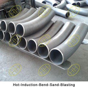 Hot-Induction-Bend-Sand-Blasting