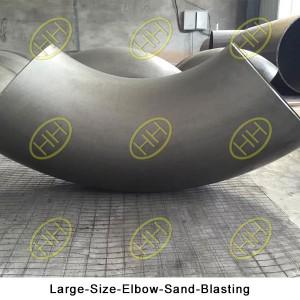 Large-Size-Elbow-Sand-Blasting
