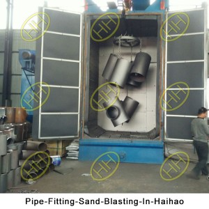 Pipe-Fitting-Sand-Blasting-In-Haihao