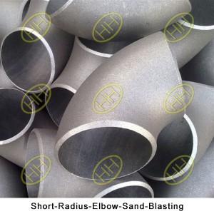 Short-Radius-Elbow-Sand-Blasting