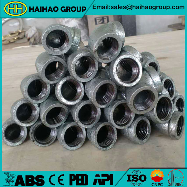 ANSI Malleable Cast Iron Sch10 Forged Threaded 90DEG Elbow