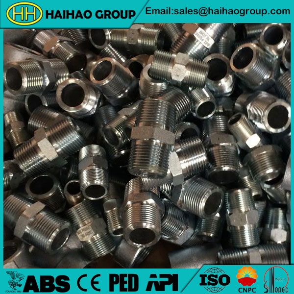 ANSI B16.11 Class 300 Sch80 Forged Nipple Threaded Pipes