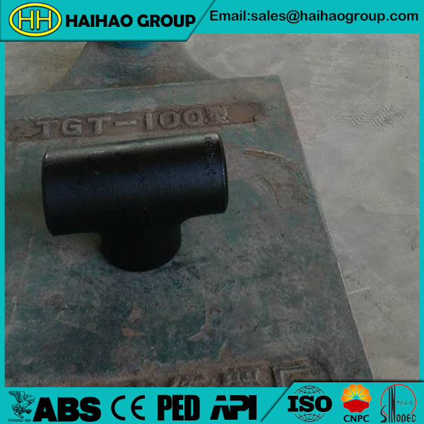 ANSI B16.28 SCH40 3inch Carbon Steel Equal Tee