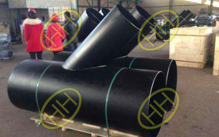 Carbon steel welded lateral tee in package