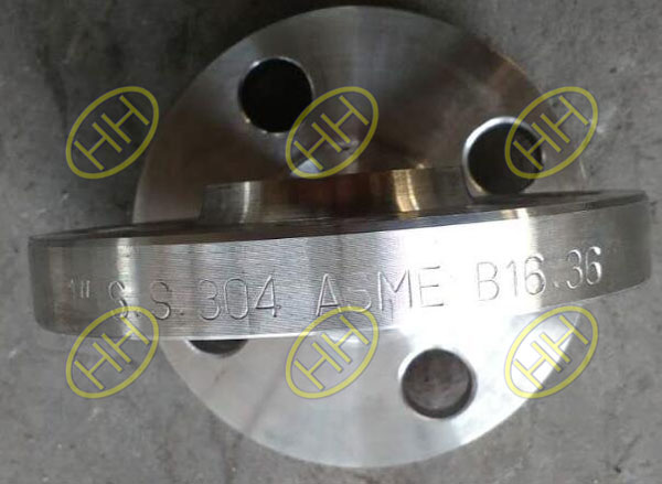 ASTM A182 F304 ASME B16.36 Welding Neck Raised Face Orifice Flange