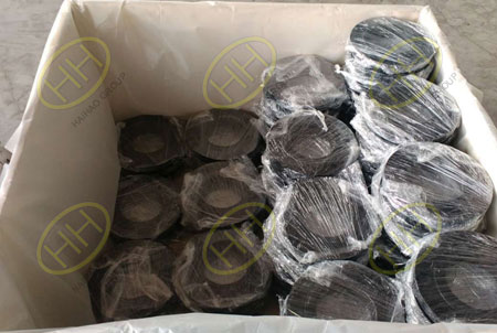 Each flange product be wrapped in plastic in Haihao Group