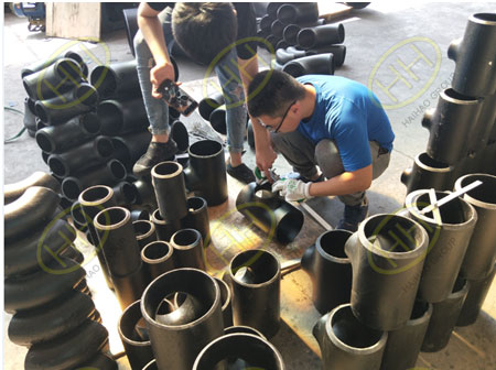 Testing pipe tee center in Haihao Group