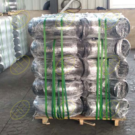 Each pipe elbows product be wrapped in plastic in Haihao Group
