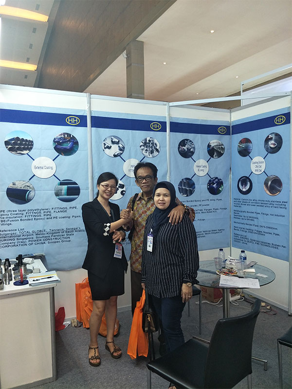 Customer visiting our booth at the 4th INDONESIA TUBE&PIPE EXPO 2018