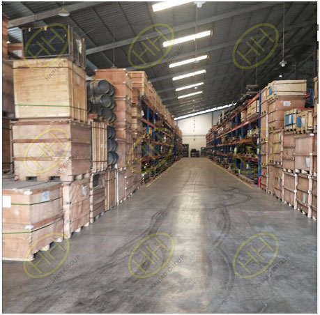 Warehouse of pipeline products-fittings,flanges&valves