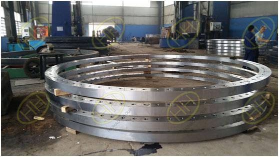 OD 3500mm Steel slip on flange / rolling forged flange .