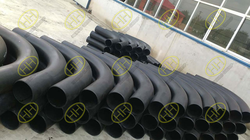 Carbon steel 3D pipe bends finished in Haihao Group