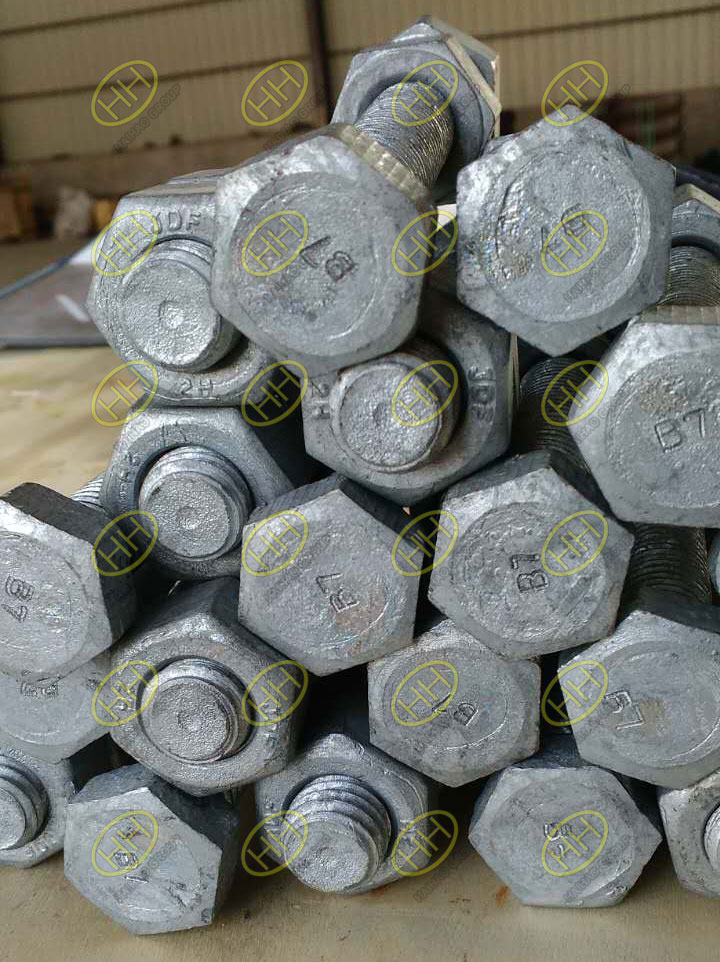Hot galvanized Grade 2 Bolts and nuts finished in Haihao Group