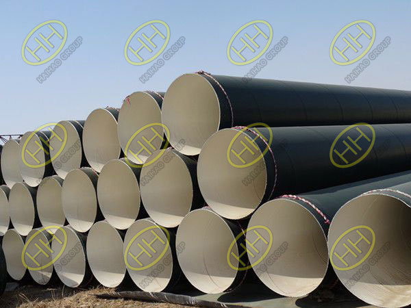 Anti corrosive coating for steel pipes