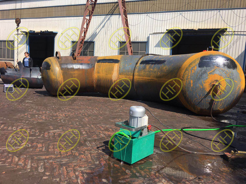Hydrostatic test for large diameter bend in Haihao Group