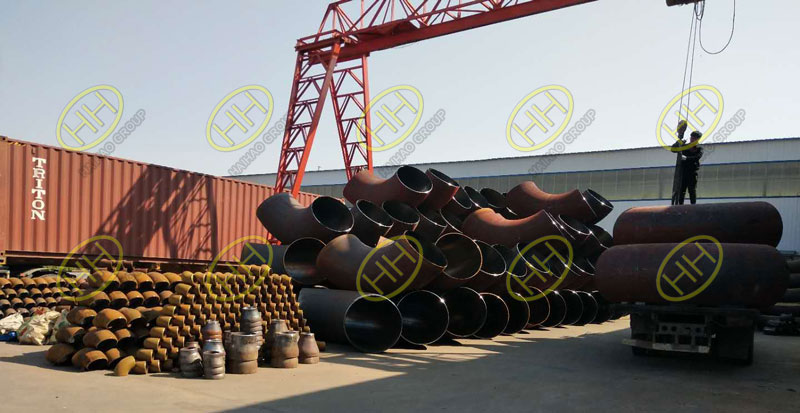 Large diameter  automatic welded elbows is loaded in Haihao Group