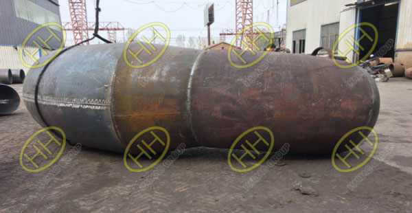Large diameter bend wait for hydrostatic pressure test