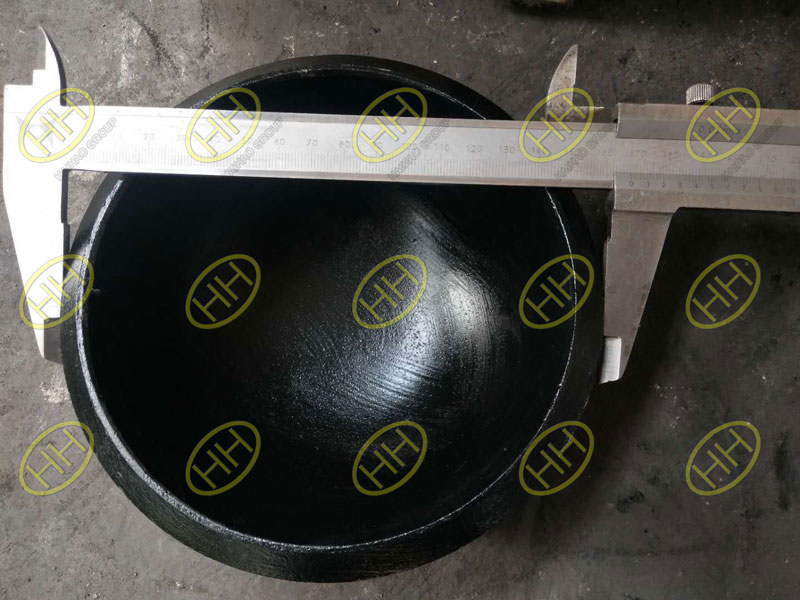 Inspection of ASME B16.9 A234 WPB SCH80 caps