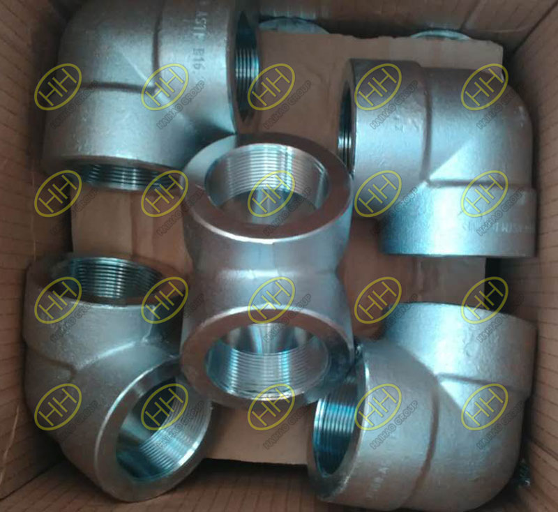 Stainless steel forged threaded elbow A182 F316 90 degree