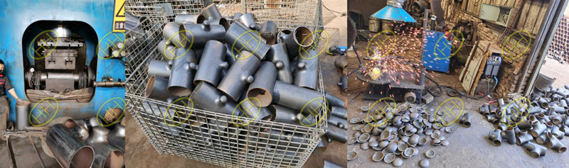 The forming process of hydraulic bulging tee