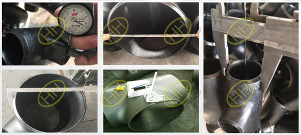 Visual and dimensional Inspection of hydraulic bulging tee