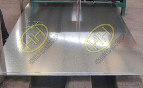 Hot dip galvanized plate