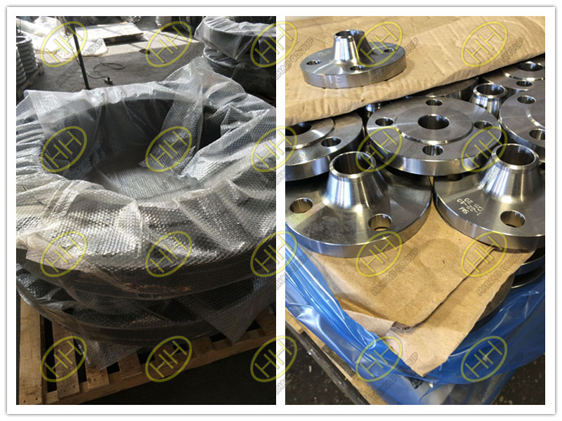 Bubble wrap packing,anti-tarnish paper and bag for flanges