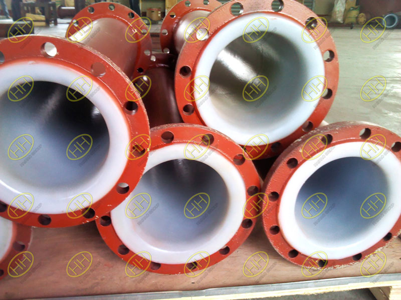 Plastic lined flanged steel pipe finished in Haihao Group